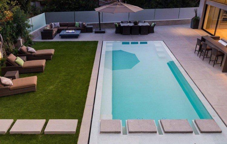amenagement jardin 200m2 avec piscine