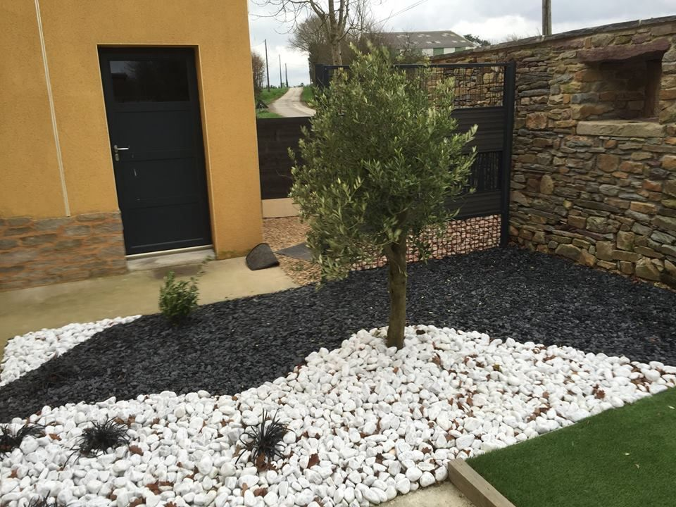 amenagement jardin avec ardoise