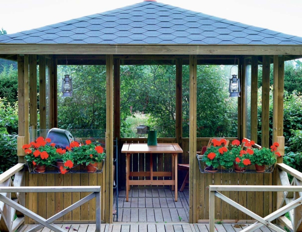 amenagement jardin avec kiosque