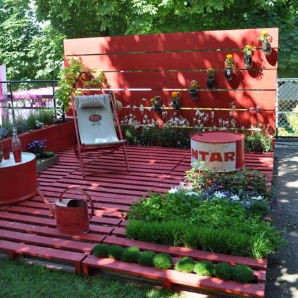amenagement jardin avec palettes