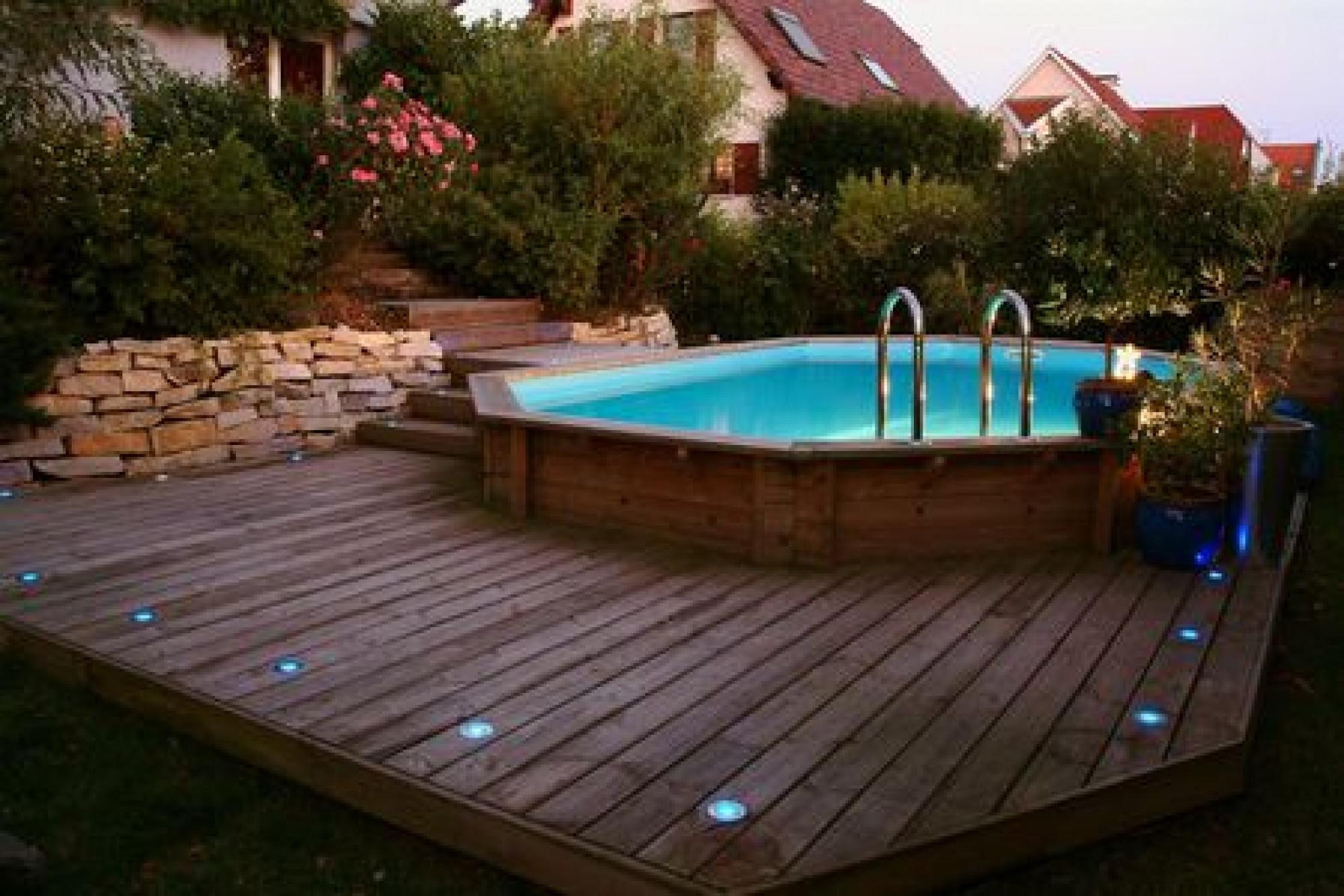 amenagement jardin avec piscine hors sol. Black Bedroom Furniture Sets. Home Design Ideas