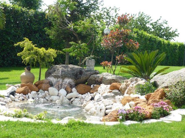 amenagement jardin avec rocaille