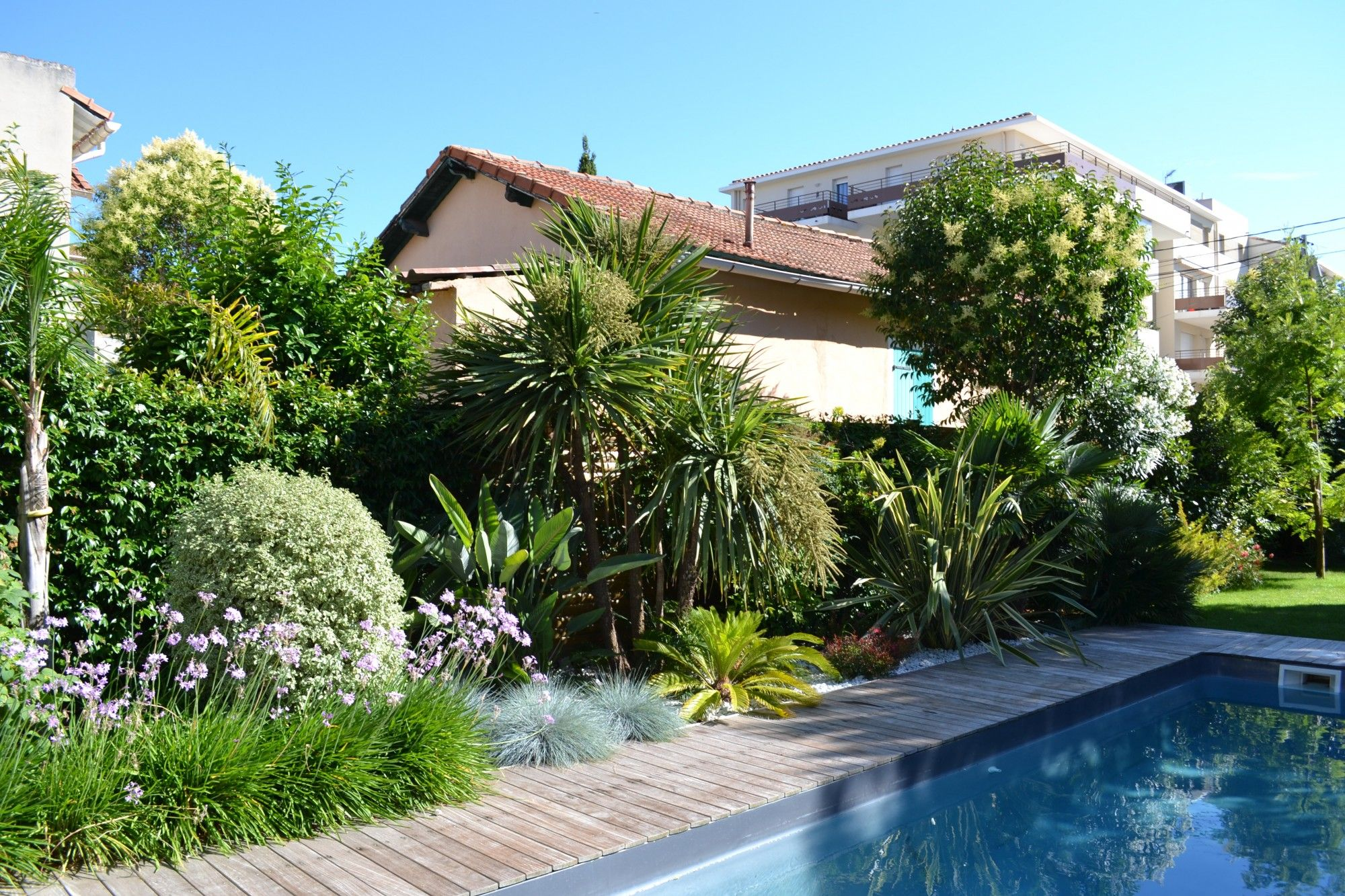 amenagement jardin bord de piscine