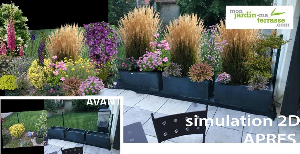 amenagement jardin cacher vis a vis. Black Bedroom Furniture Sets. Home Design Ideas