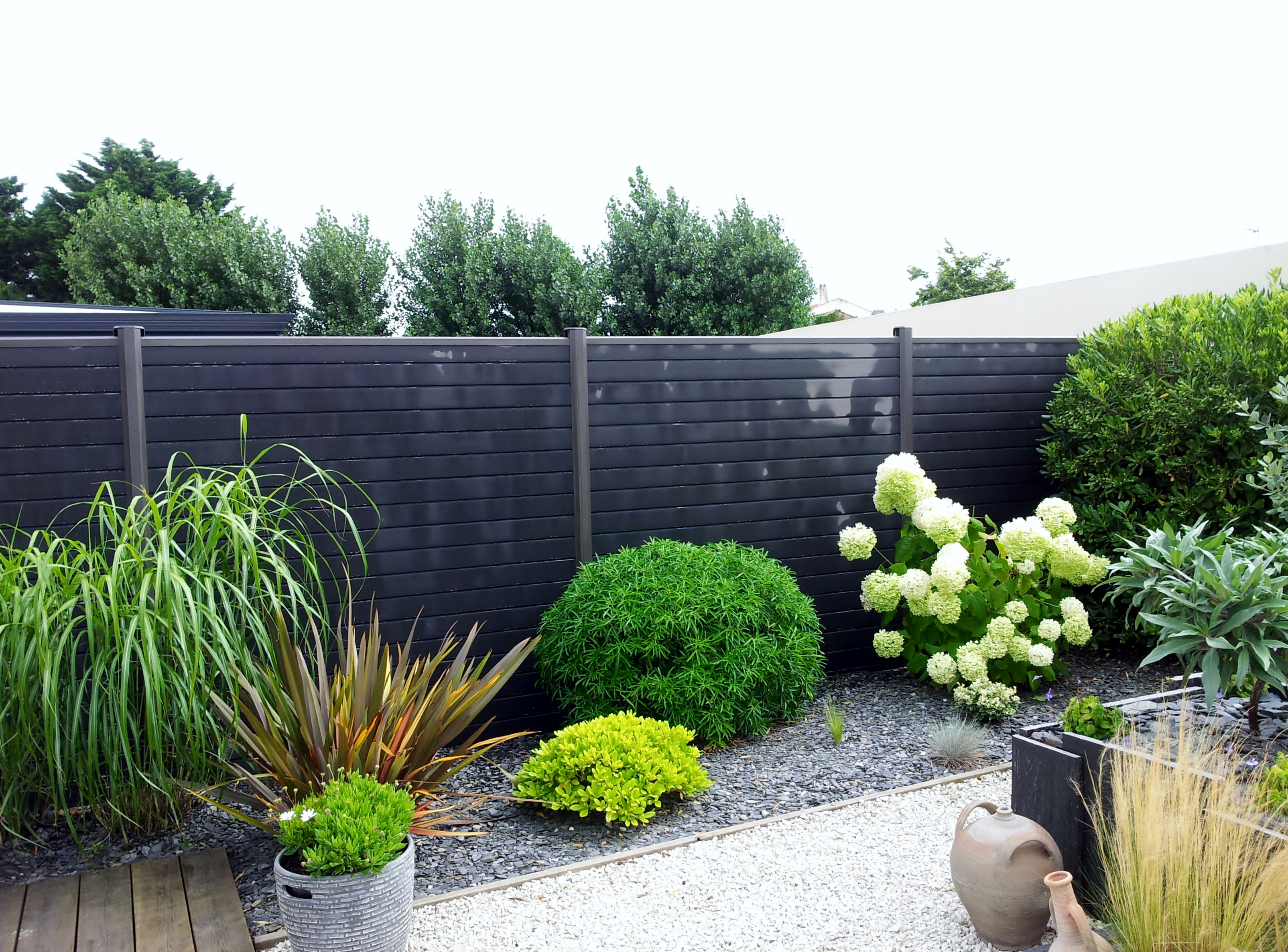amenagement jardin cloture
