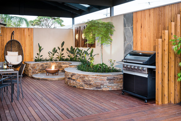 amenagement jardin coin barbecue