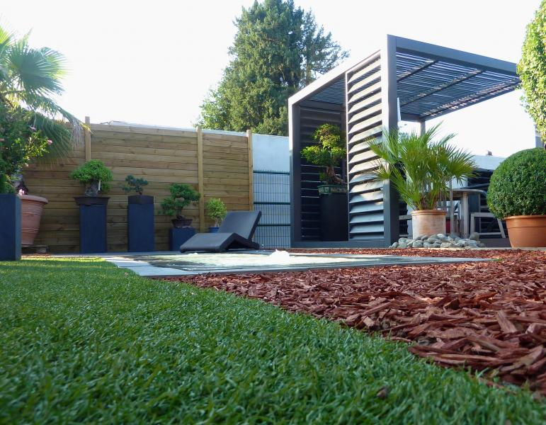 amenagement jardin contemporain