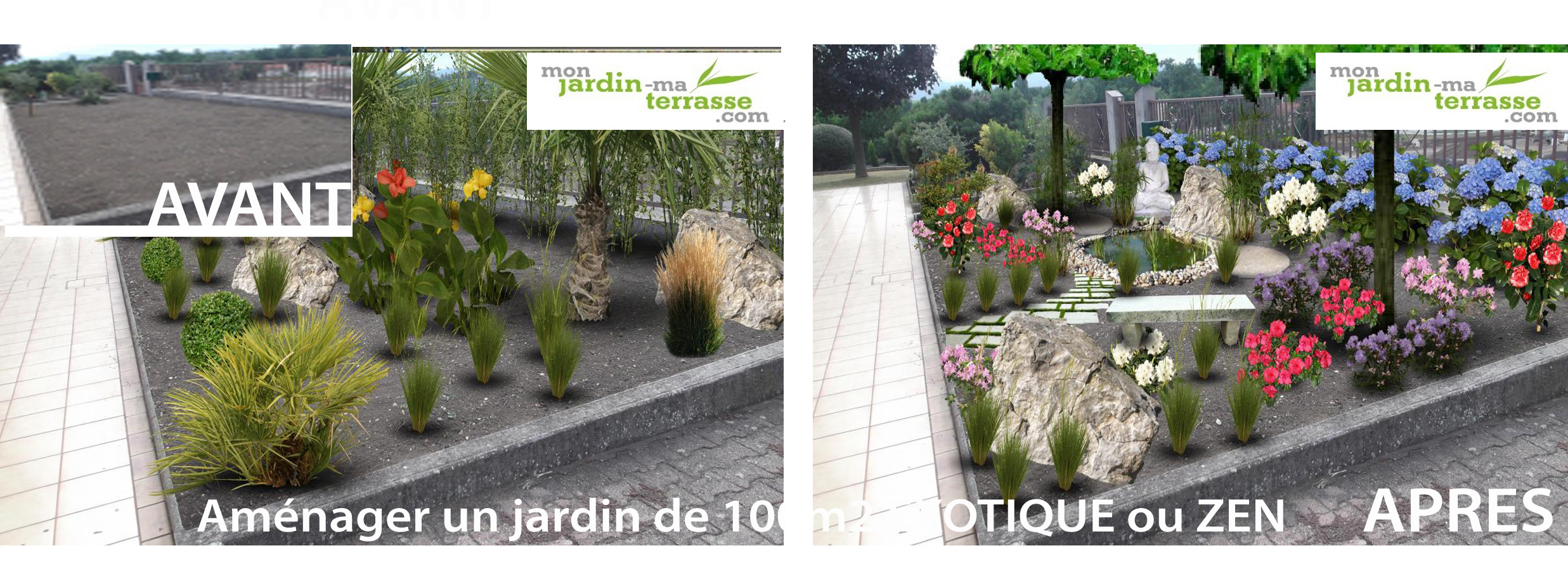 amenagement jardin de 100m2