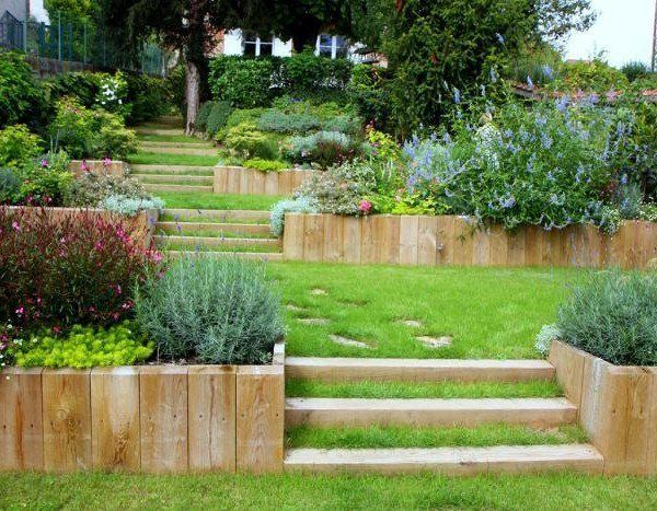 amenagement jardin en escalier