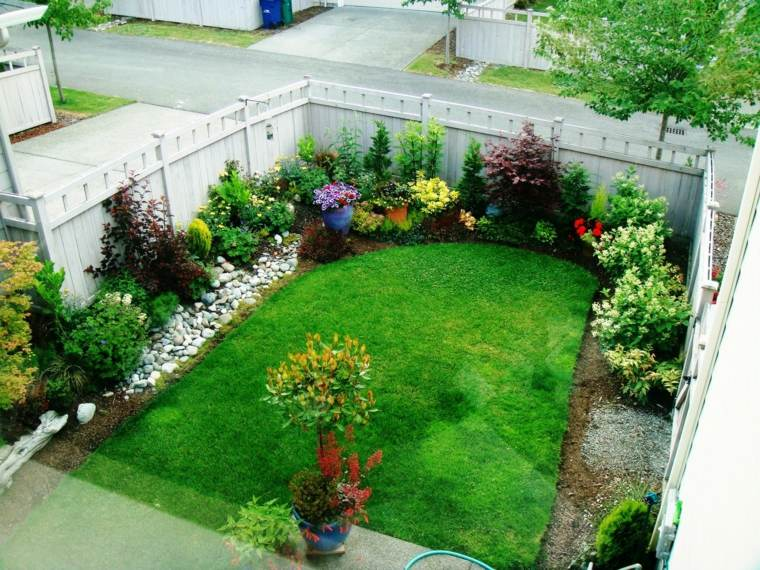 amenagement jardin en l