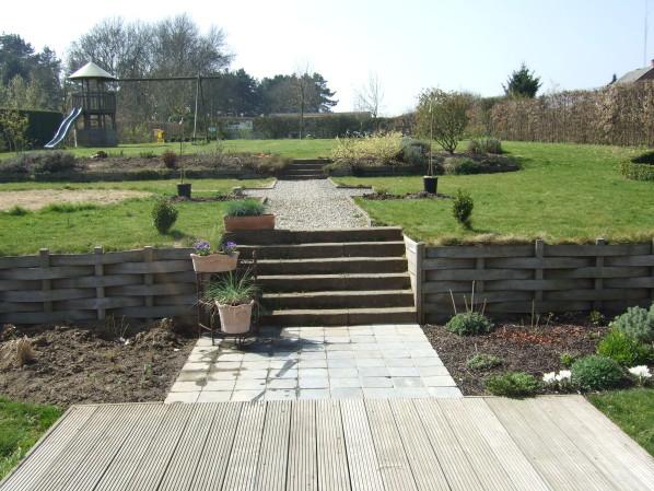amenagement jardin en palier