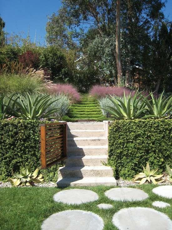 amenagement jardin en pente idee