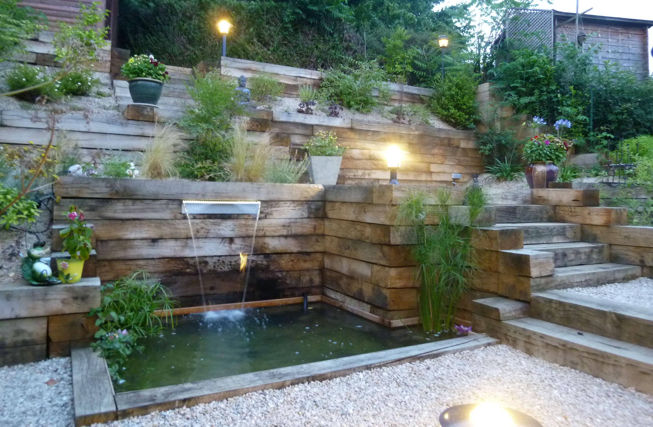 Amenagement Jardin En Pente Idee - Idee amenagement exterieur maison