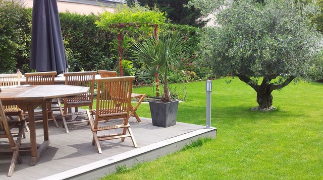 amenagement jardin en u