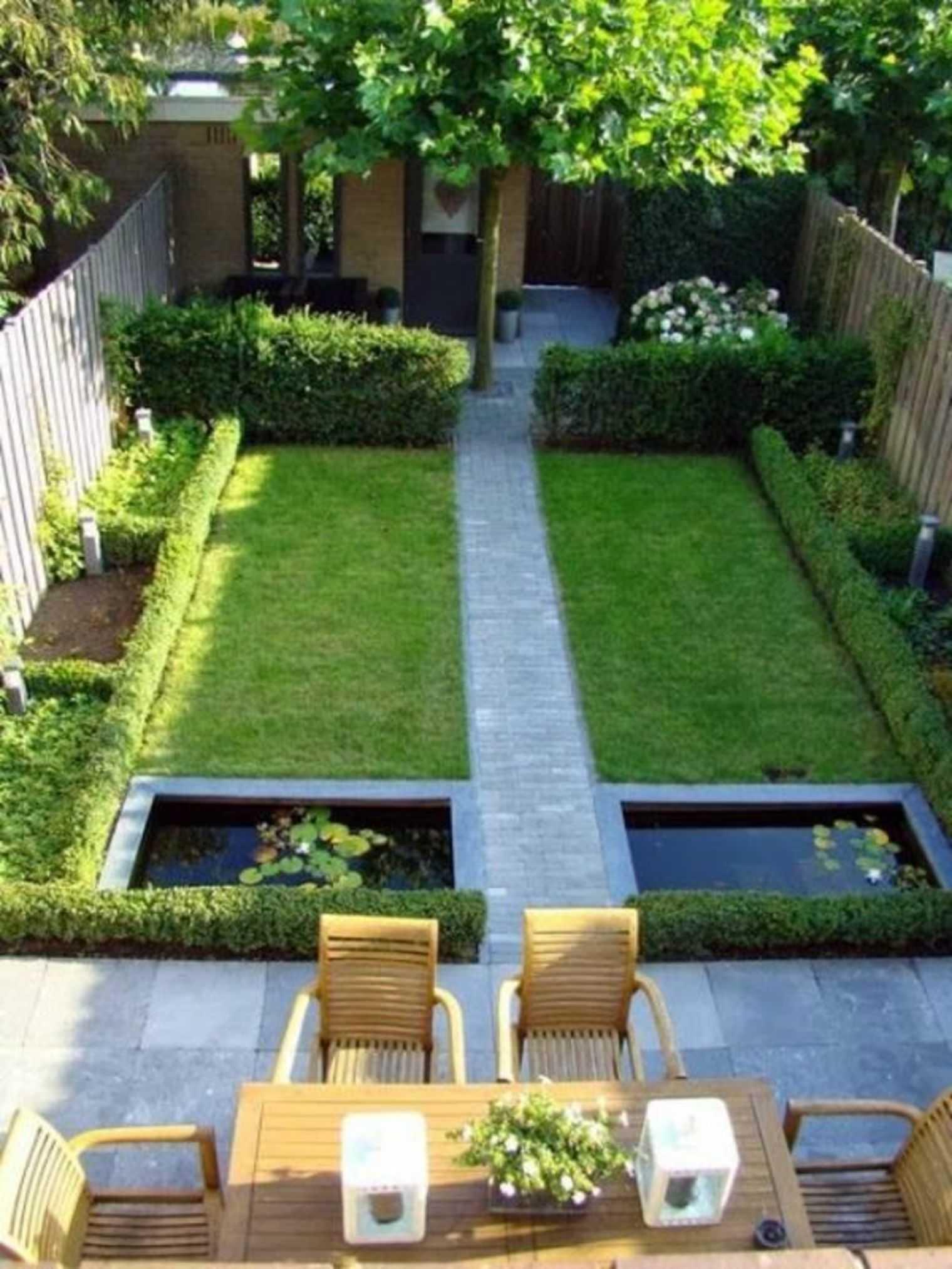 amenagement jardin en u