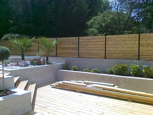 amenagement jardin et cloture