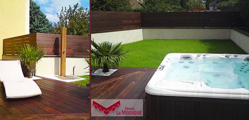 Beautiful Jacuzzi Terrasse Jardin Pictures - House Design ...