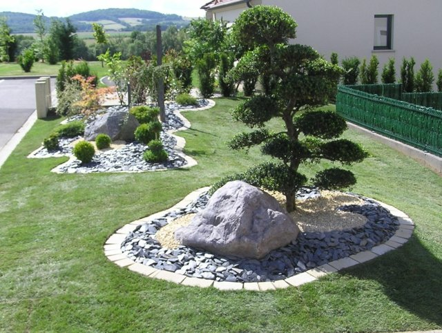 amenagement jardin massif