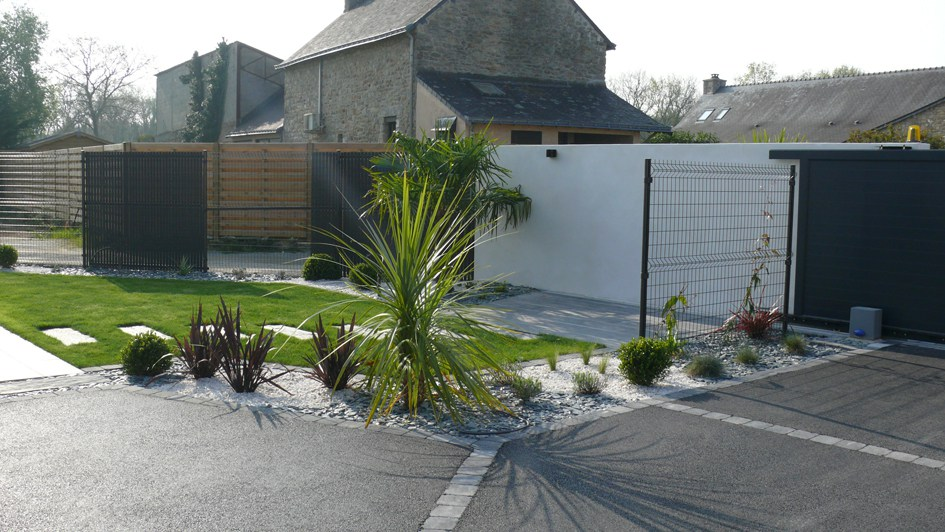 amenagement jardin moderne