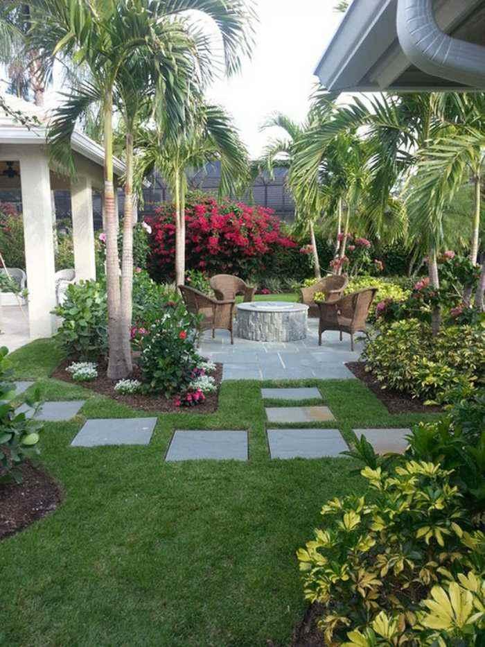 amenagement jardin palmier