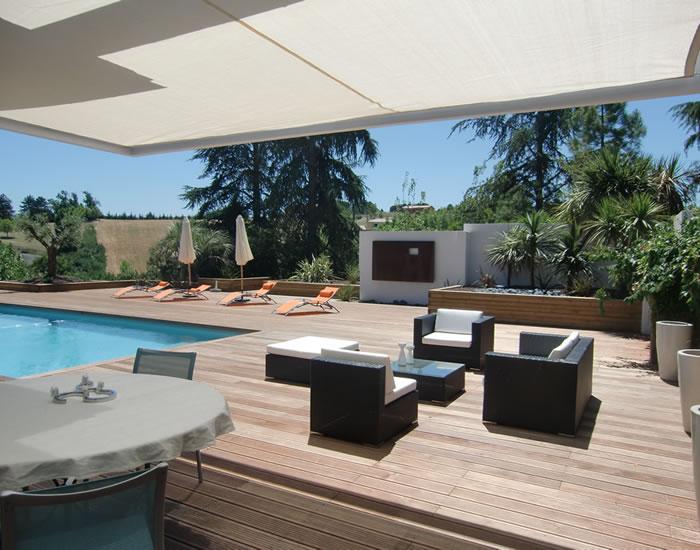 Amenagement jardin piscine terrasse - Amenagement terrasse piscine ...