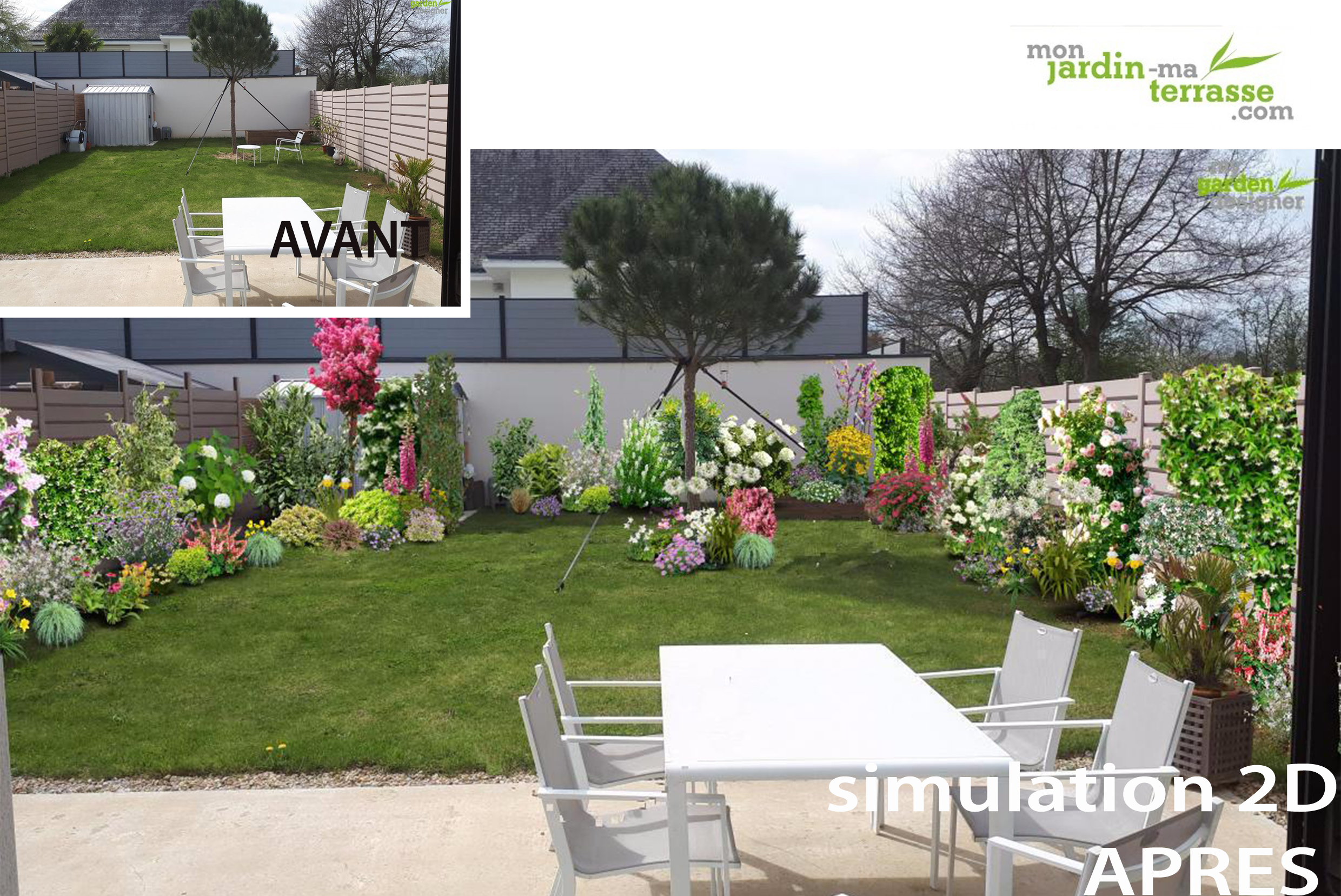amenagement jardin rectangle