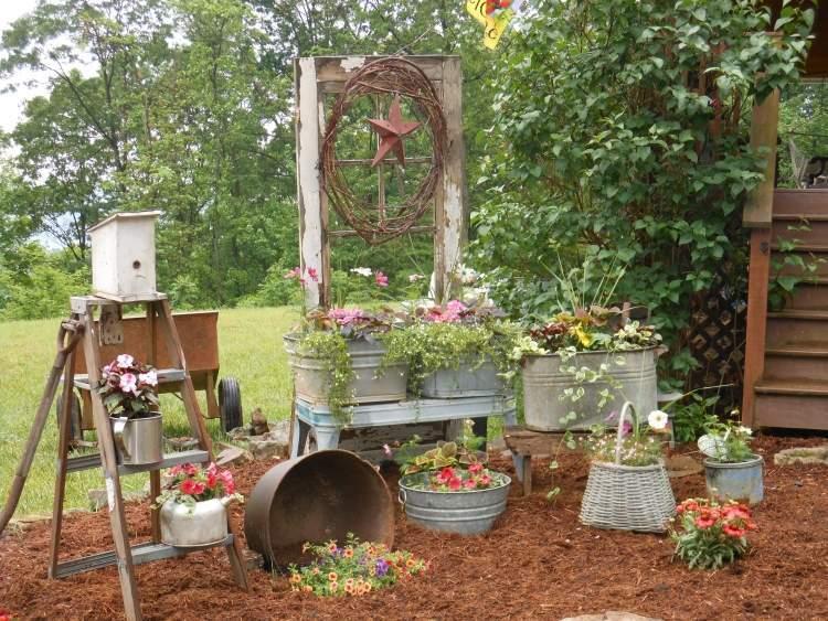 amenagement jardin recup