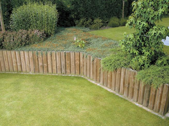 Amenagement jardin rondin bois - Jardin cloture amenagement ...