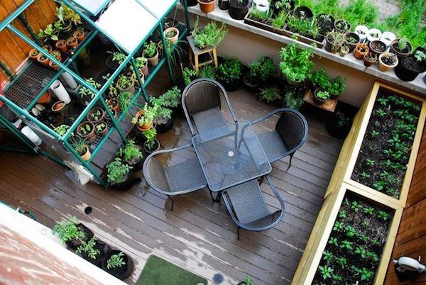 amenagement jardin sur balcon
