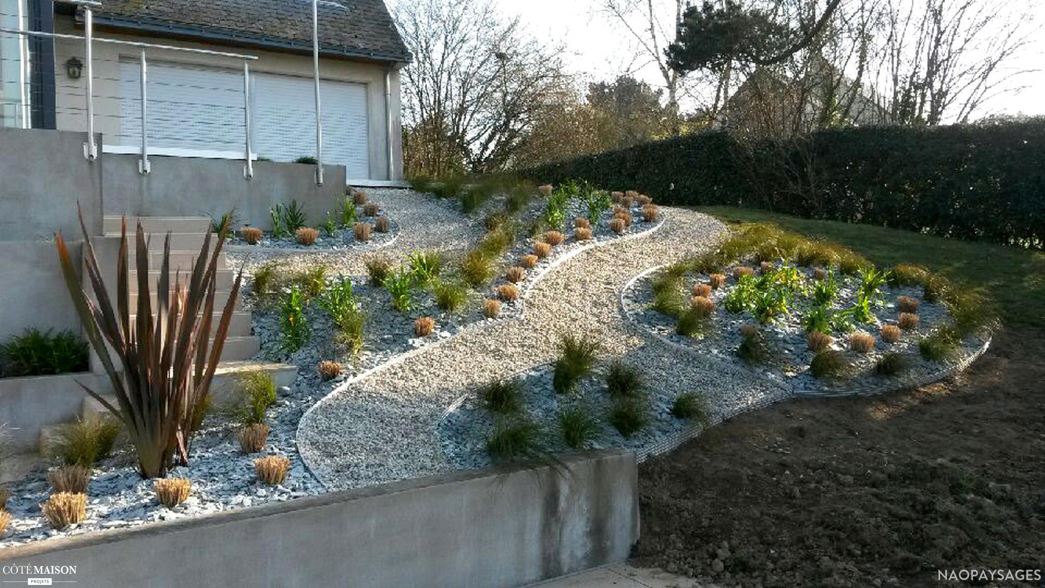 Amenagement jardin talus - Amenagement d un jardin en pente ...