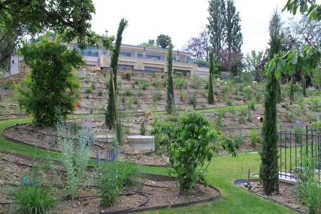 Jardin En Pente Aménagement amenagement jardin terrain en pente