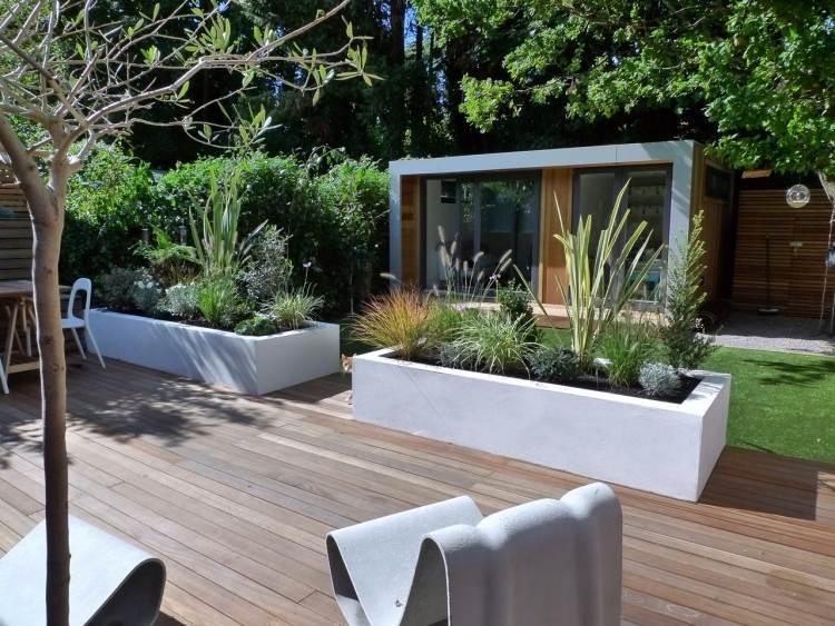 Aménagement de terrasse et jardin - appart meuble co