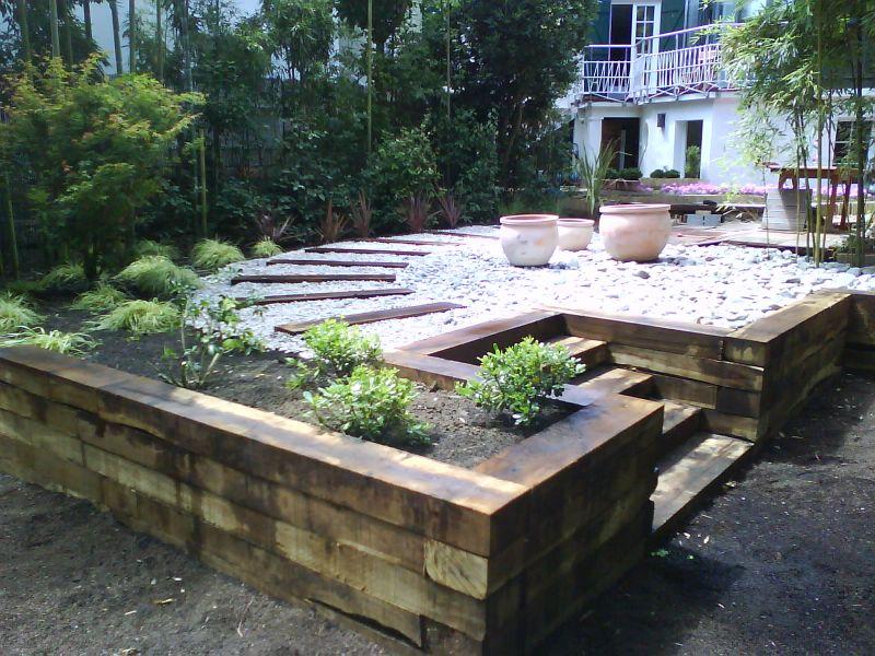 Amenagement jardin traverse bois - Deco jardin bois exterieur ...
