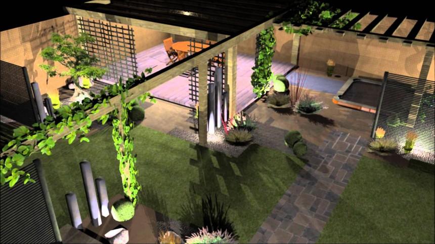 amenagement jardin virtuel
