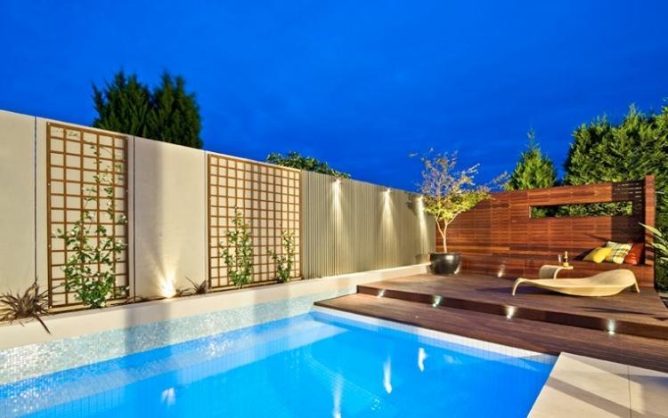 decoration exterieur avec piscine
