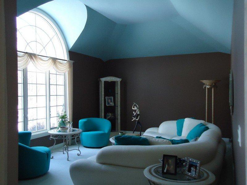 decoration exterieur bleu turquoise