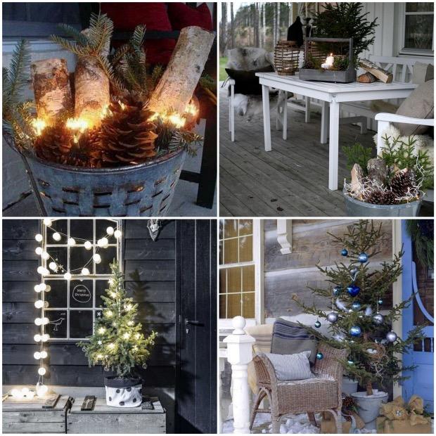 decoration exterieur d'hiver