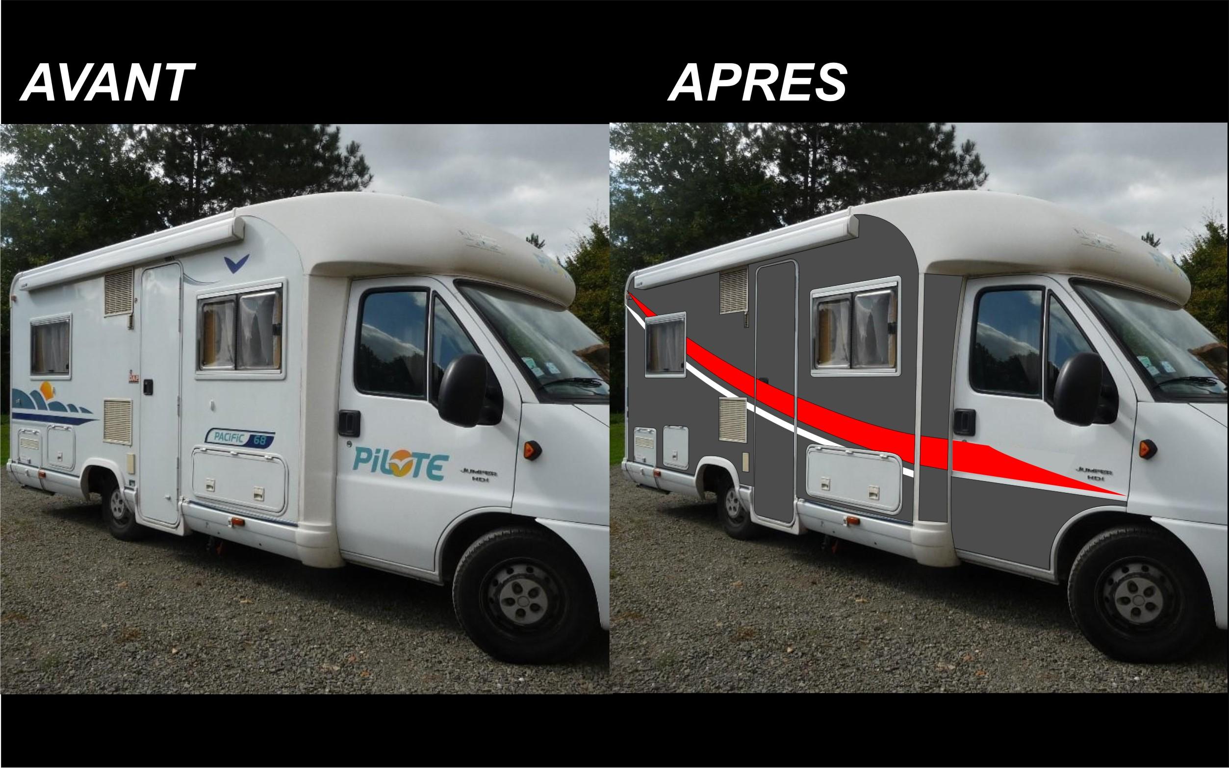 decoration exterieur de camping car. Black Bedroom Furniture Sets. Home Design Ideas