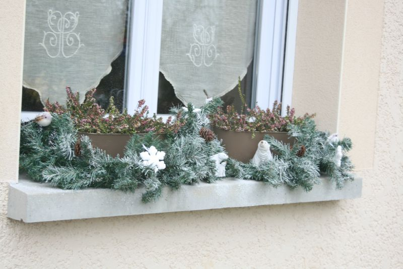 decoration exterieur fenetre noel
