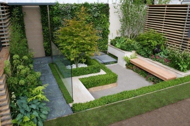 decoration exterieur jardin moderne