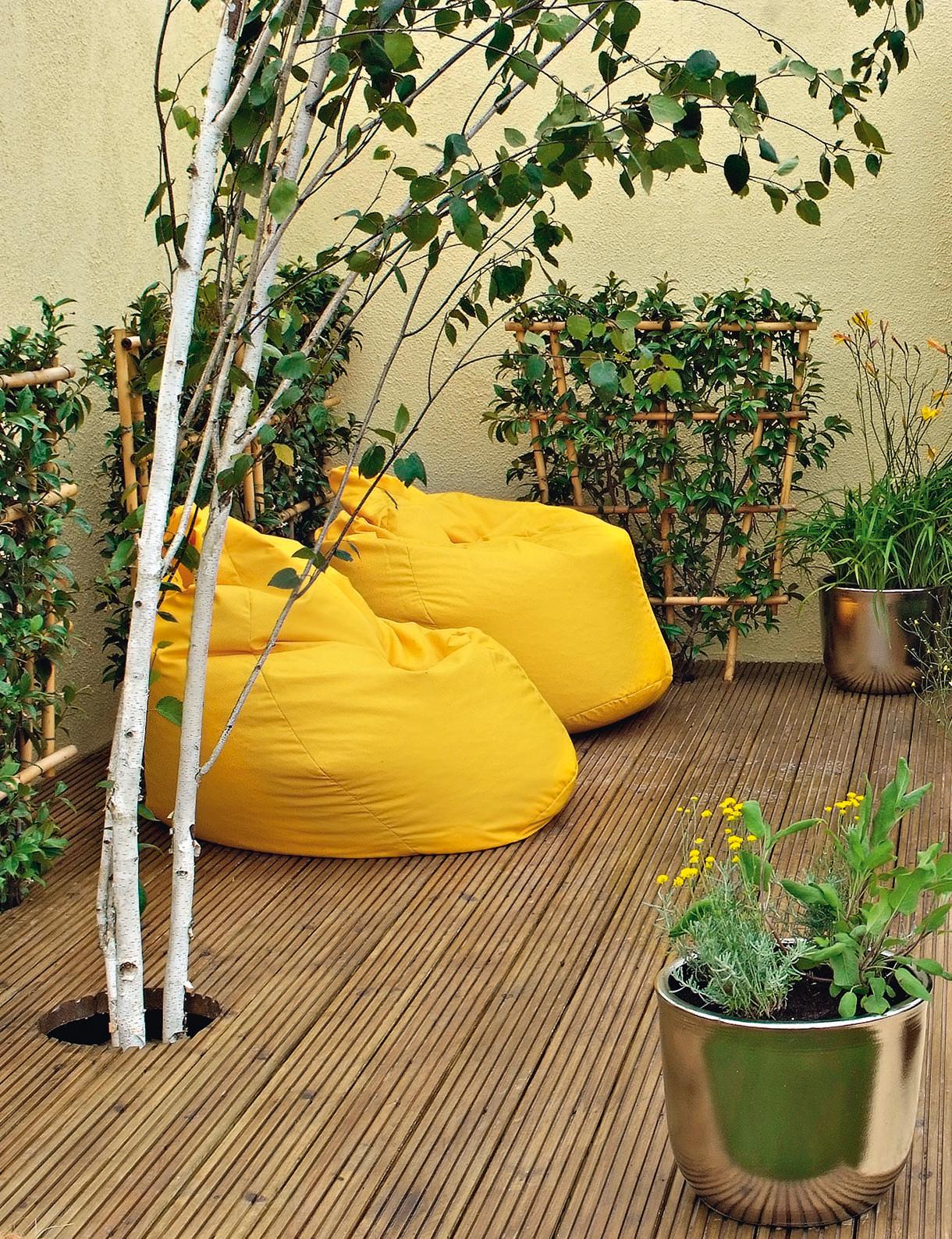 decoration exterieur jaune