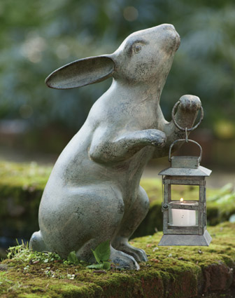 decoration exterieur lapin