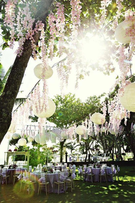 decoration exterieur mariage champetre
