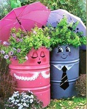 decoration exterieur recyclage
