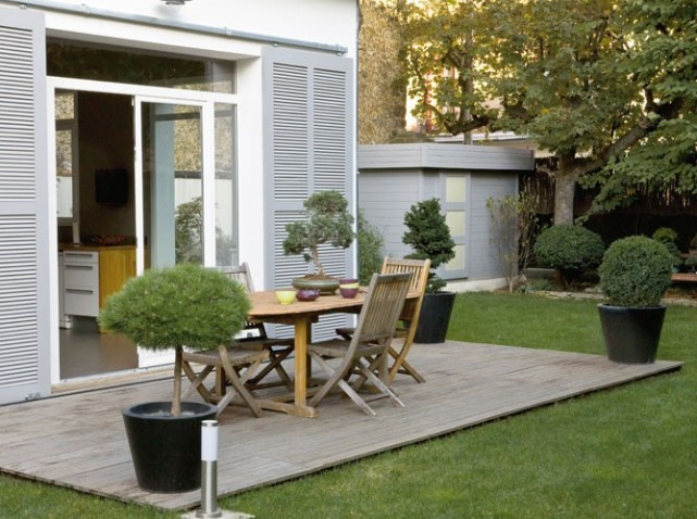 decoration exterieur terrasse bois. Black Bedroom Furniture Sets. Home Design Ideas