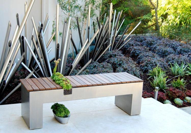 decoration exterieure jardin contemporain