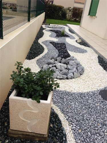 decoration exterieure jardin galet