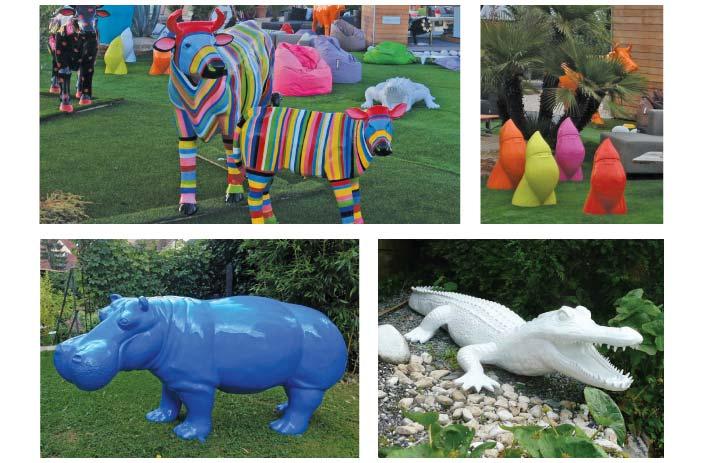 decoration jardin animaux
