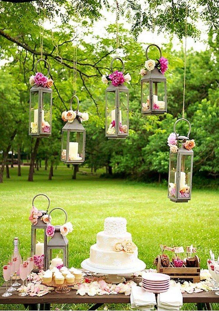 decoration jardin anniversaire