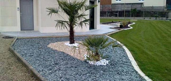decoration jardin ardoise